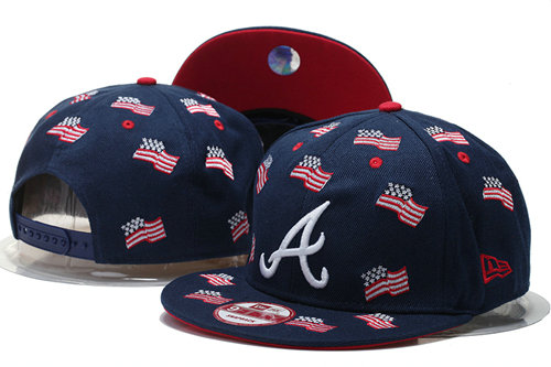 Atlanta Braves Snapback Navy Hat GS 0620